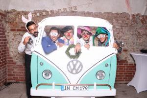 VW Bulli Fotokulisse Fotobox